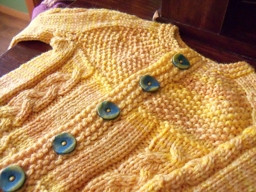 baby sweater close up