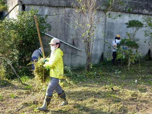 南相馬市小高区でお手伝い (ボランティアチーム援人) Volunteer at Minamisoma (Fukushima pref.), Affrected by the Tsunami of Japan Earthquake and Fukushima Daiichi nuclear plant accident