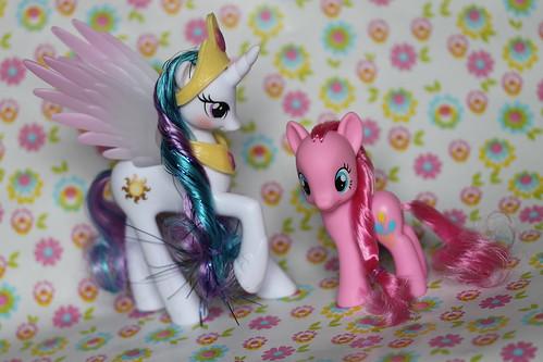 Princess Celestia and Pinkie Pie