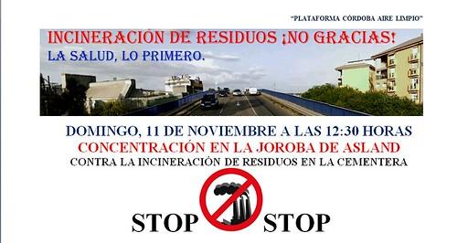 Concentración 11 de Noviembre contra la incineración.