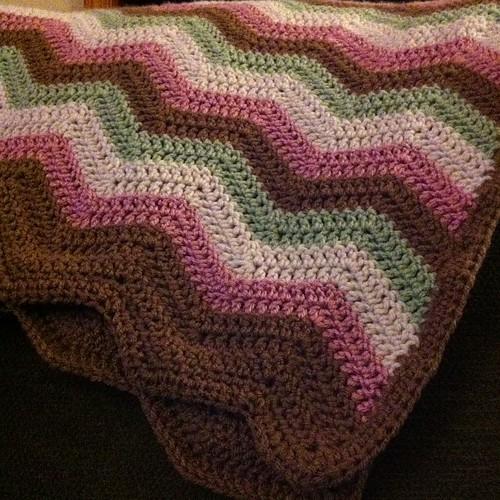 #chevron #ripple #crochet #afghan is done!