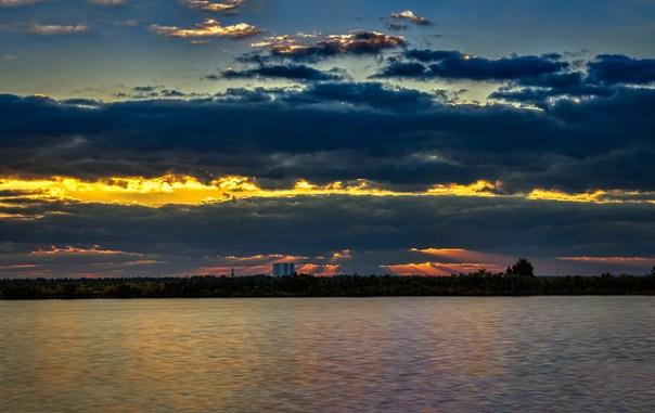 VAB sunrise. Merritt Island, Florida