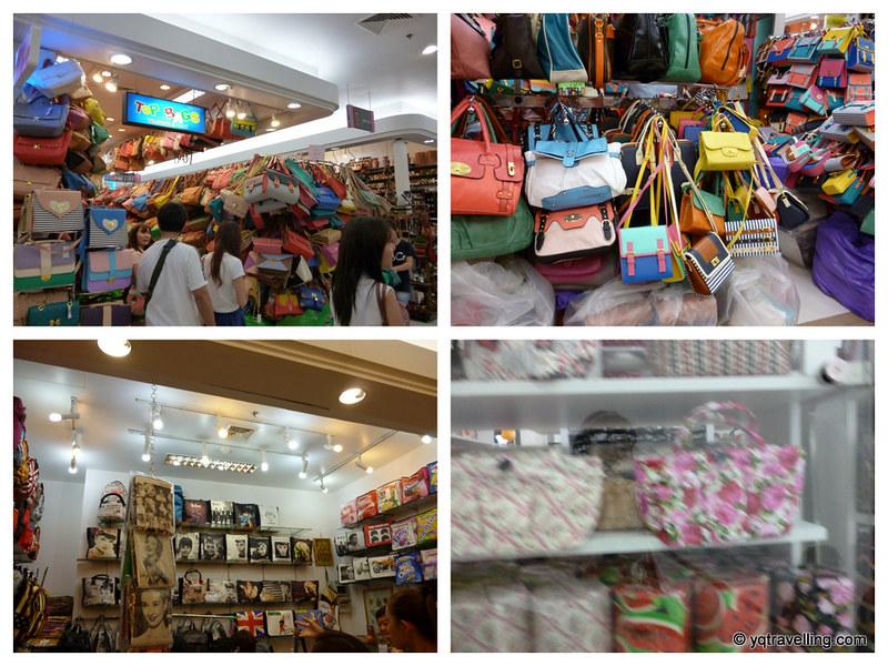 Bag stalls at Platinum Mall