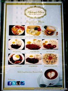 Kitchen's Best Home Patisserie breakfast menu