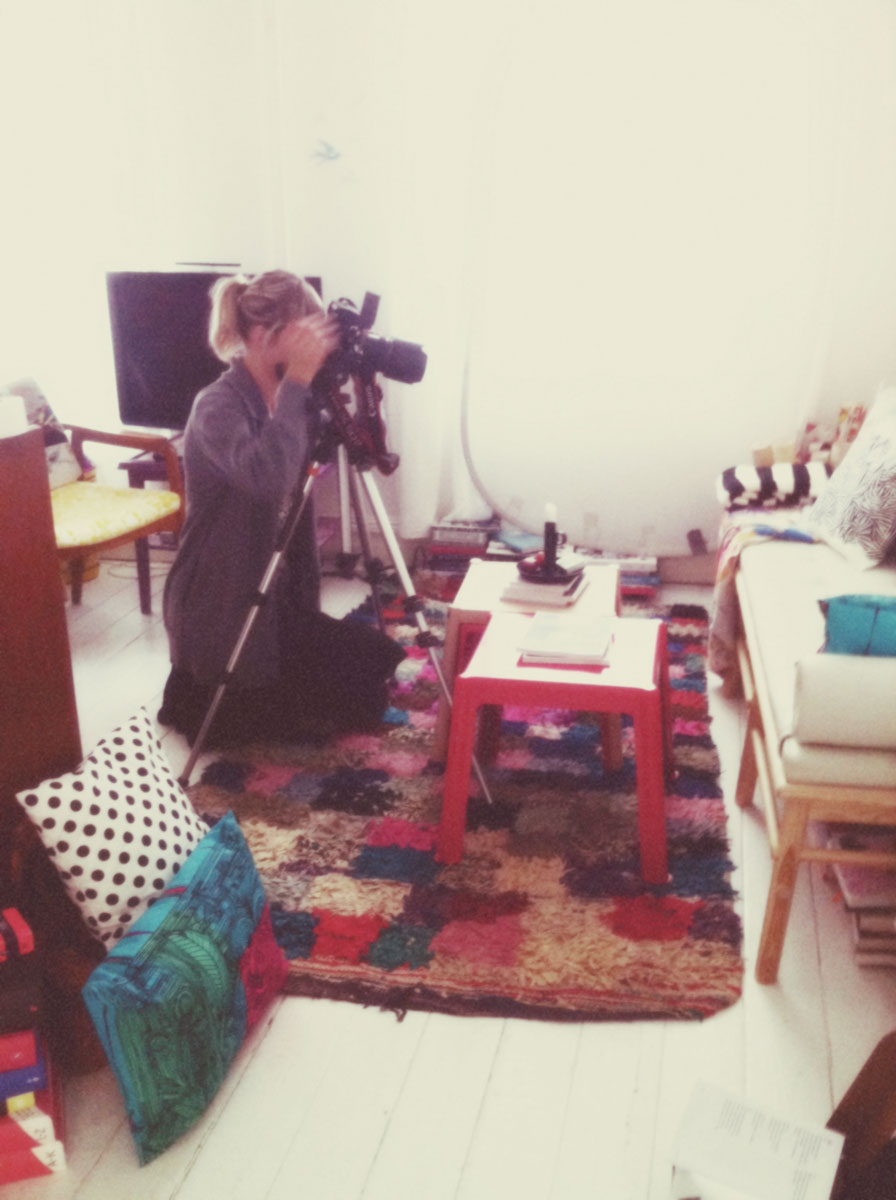 Lina Ikse shooting my home for IKEA Live