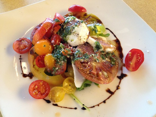 Heirloom tomato and fresh mozzarella salad - Lark Creek Grill
