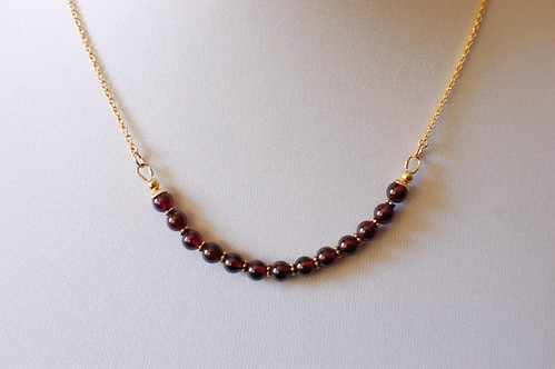 Garnet Necklace - Michele (11/12)