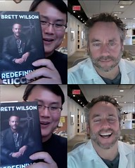 "Brett new book ""Redefining Success: Still Making Mistakes"" interview pix - 2012"