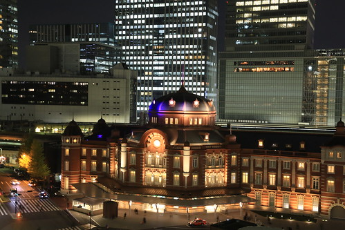 New Old Tokyo Station Night View (test ISO2000)