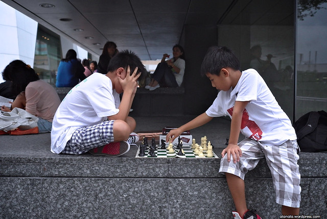 The younger generation - International chess game
