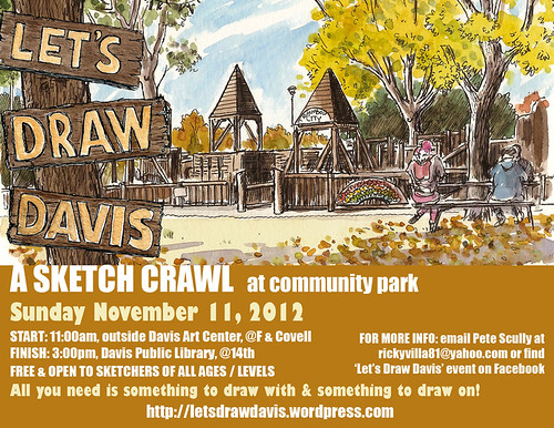 let's draw davis! community park, 11/11/12