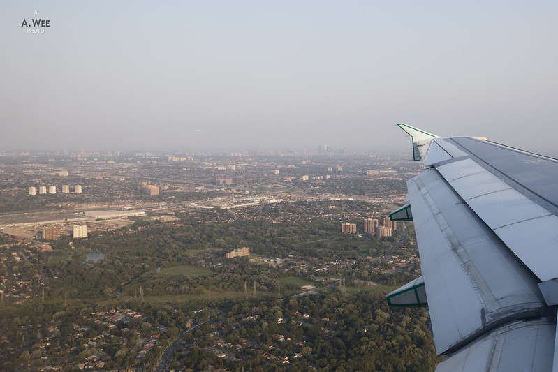 Landing at Pearson