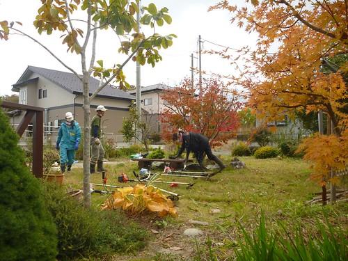 南相馬市小高区でお手伝い (ボランティアチーム援人) Volunteer work at Odaka, Minamisoma (Fukushima pref.)