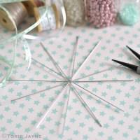 Metal wire snowflake frame   Torie Jayne