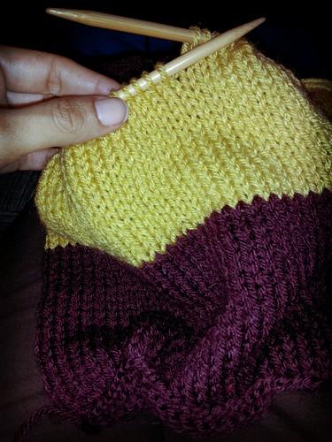 strange scarf by The Knitting Mama Bear