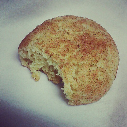 Yes, this is a homemade snickerdoodle. No, I did not make enough for the office. #callmeScroogeifyouwant