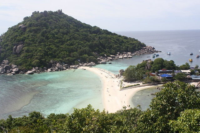 The views from the peak of Nang Yuan Island, Thailand