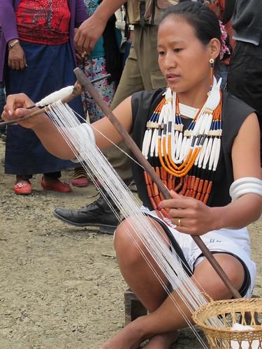 Lazami villagers performing Aye küzü, Ahuna 2012, Zunheboto