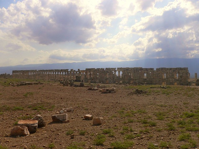 The ruins at Apamea, Syria