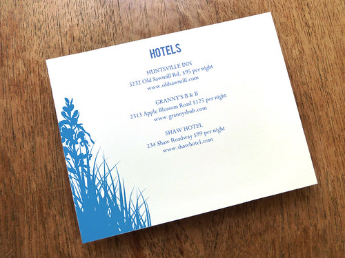 Enclosure Card - Bluebell