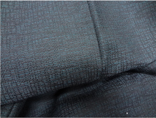 Black and Blue Men's Kimono Detail