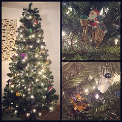 Christmas Tree Lit and Ornamentized.