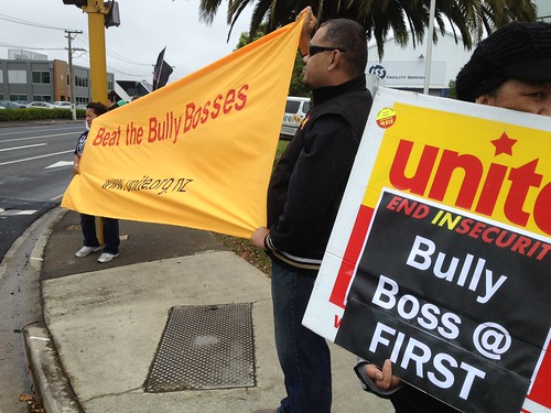 INSECURITY campaign outside ISS offices by uniteunion