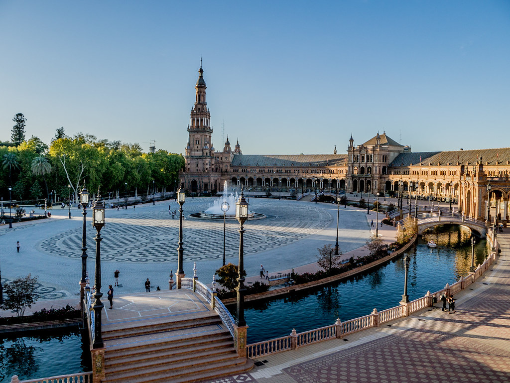 Plaza España, Seville, elevated view