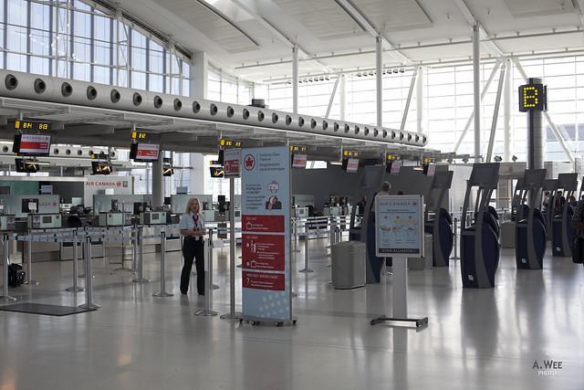 A quite empty Air Canada Terminal