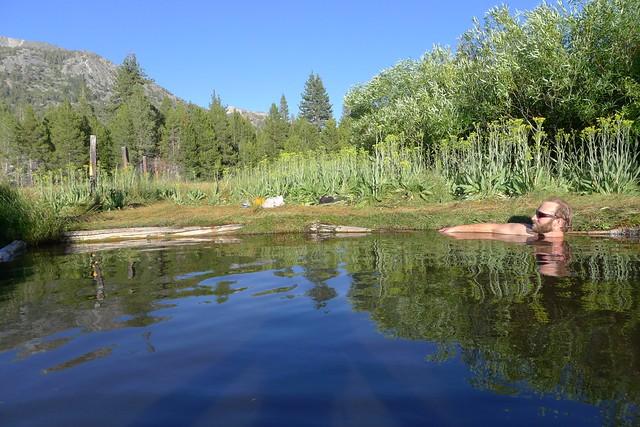 Backcountry Ski Guide at Hot Springs
