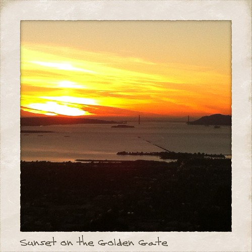 Sunset over the Golden Gate