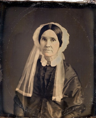 Widow with a Mourning Brooch, M.P. Simons Daguerreotype, Circa 1852