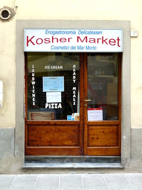 Florence - jour 2 - 068 - Magasin kascher