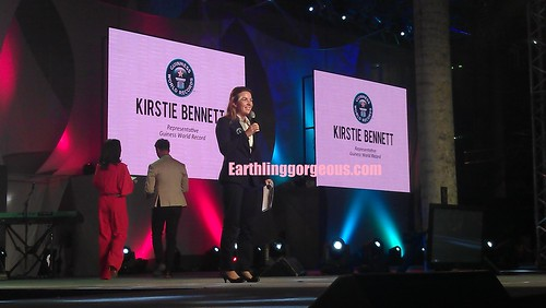 Ms. Kristie Bennett representing Guiness World Record