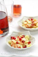 Crevettes à la pomme et grenade (cuites sous-vide)