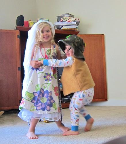 Dress up kids dancing