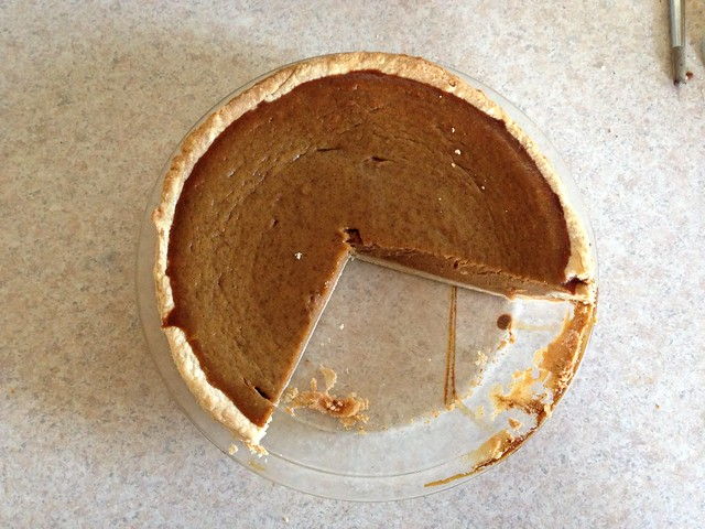 Pumpkin Pie all alone