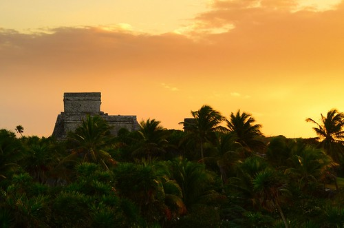 Tulum ruins in sunset 3