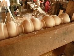 pole lathe turned beads & coves
