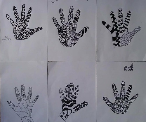 zentangle hands