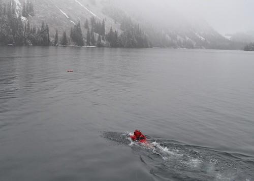CGC Long Island surface swimmer ops by U.S. Coast Guard