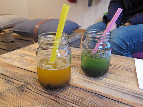 Passionfruit and Honeydew Bubble Teas