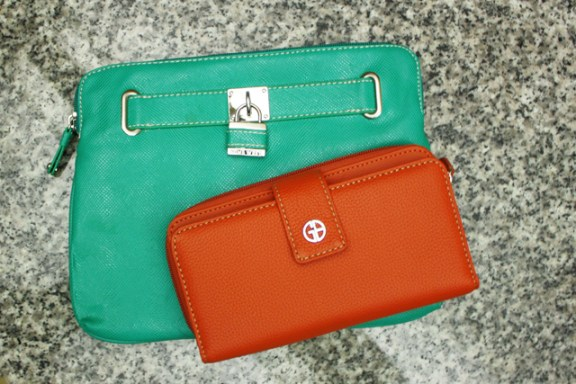 colorful leather accessories
