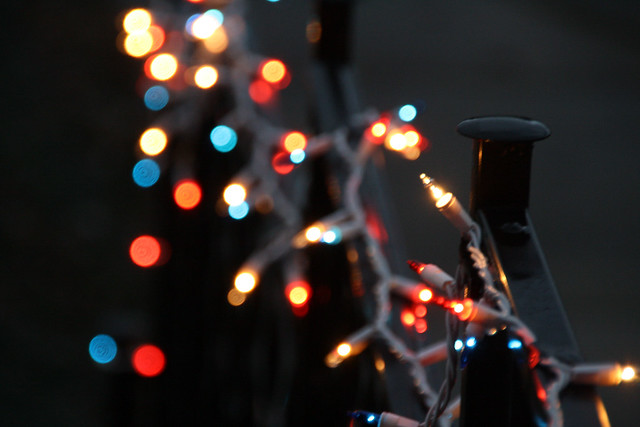 Christmas Light Bokeh por Linda Fields