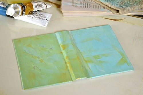 paint covers with 2-3 coats of background paint