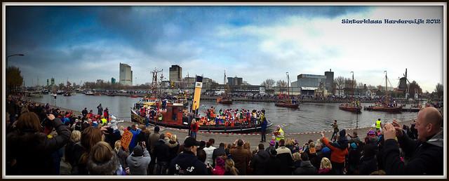 Intocht Sinterklaas Harderwijk (17-11-2012).