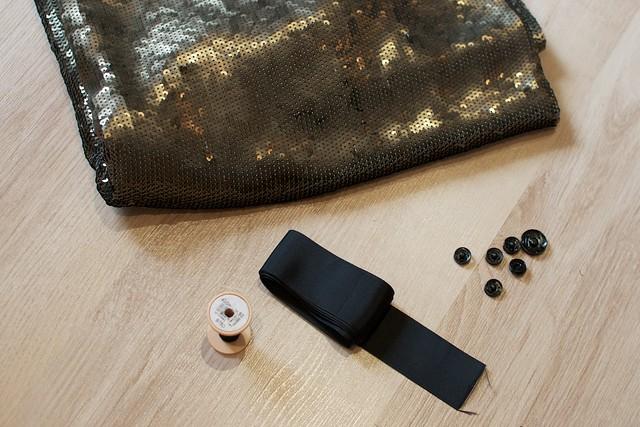 DIY Sequin Maxi Skirt 8