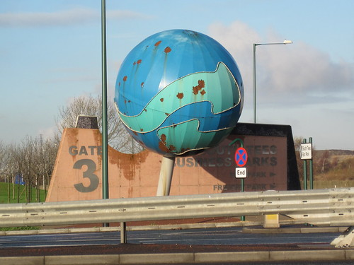 (Rusty) Sphere, Steve Tomlinson, A66 South Bank