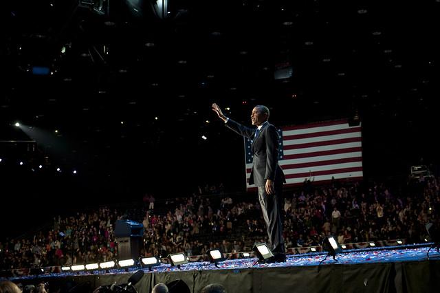 Barack Obama and Joe Biden on Election Day - November 6th
