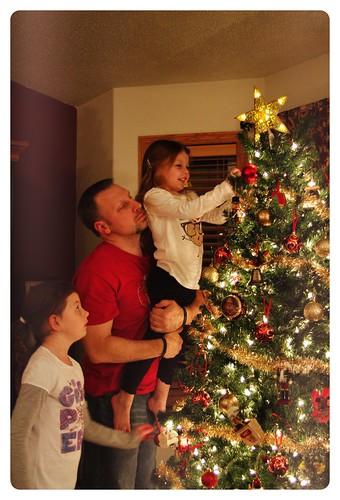 Decorating the tree!